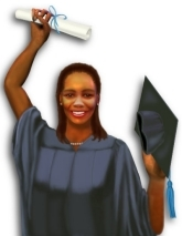 Image of successful female student